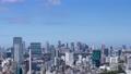 東京 タイムラプス 新宿 渋谷 都心全景 地平線 パン 60083579