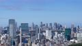 東京 タイムラプス 新宿 渋谷 都心全景 地平線 パン 60083583