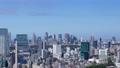 東京 タイムラプス 新宿 渋谷 都心全景 地平線 パン 60083584