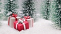 Christmas presents in forest 60105650