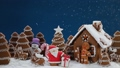 Gingerbread house and trees 60159414