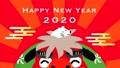 연하장 동영상 2020 년 사자춤과 쥐 60439083