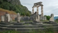Tholos with Doric columns at the Athena Pronoia temple ruins in Delphi, Greece 60618900