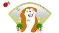 秋田犬,Ka松和翅膀的新年插图循环素材视频 60662127