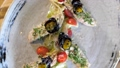 Modern plate with trendy decorated tasty fish dish with mushrooms and vegetables 60674165