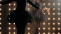 Silhouette of two ballerinas in black tutu is dancing ballet in the dark studio. 60724624