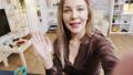 Pov of beautiful beauty influencer recording new vlog for social media 60732696