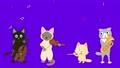 猫のコンサート。猫が歌を歌ったり楽器を演奏している。 60841579
