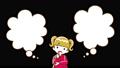 疑問を抱く女の子 フキダシ2個つき アルファチャンネル 上半身 61055921