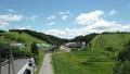 夏の高原 ドローン空撮影像 長野県大町市 61200749