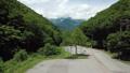 夏の高原 ドローン空撮影像 長野県大町市 61201024