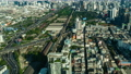 time lapse of Bangkok city downtown skyline and expressway road, view from Baiyoke Tower II in Bangkok, Thailand 61211836