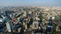 time lapse of Bangkok city downtown skyline and expressway road, view from Baiyoke Tower II in Bangkok, Thailand 61211837