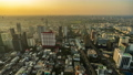 time lapse of Bangkok city downtown and road traffic at sunset in Thailand , Cityscape 61211842