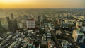time lapse of Bangkok city downtown and road traffic at sunset in Thailand , Cityscape 61211843