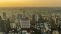 time lapse of Bangkok city downtown and road traffic at sunset in Thailand , Cityscape 61211844
