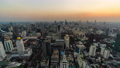 day to night time lapse of Bangkok city downtown and road traffic in Thailand , Cityscape 61211846