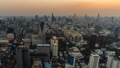 day to night time lapse of Bangkok city downtown and road traffic in Thailand , Cityscape 61211847