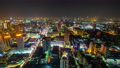 time lapse of Bangkok city downtown and road traffic at night in Thailand , Cityscape 61211848