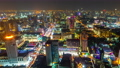 time lapse of Bangkok city downtown and road traffic at night in Thailand , Cityscape 61211850