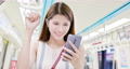 asian young woman use 5g smartphone in the subway or train - location taipei and taiwan 61239651