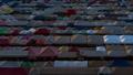 day to night time lapse of Train Night Market Ratchada (Talad Rot Fai) at night in Bangkok, Thailand 61331554