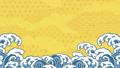 파도 앞에 벚꽃이 흩 날리는 일러스트 61432142