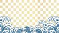 파도 앞에 벚꽃이 흩 날리는 일러스트 61432146