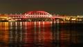神戸大橋 夜景 タイムラプス 4K ズームイン 61693771
