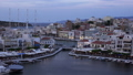 Sunset at city of Aegean sea. Crete island, Greece 61710607
