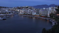Sunset at city of Aegean sea. Crete island, Greece 61710609