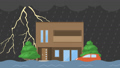 Thunderstorm and flood videos 61786160