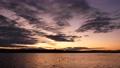 夕映えの川の風景(タイムラプス) 61837014