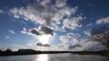夕日が沈む川の風景(タイムラプス) 61924626