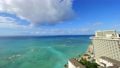 ฮาวาย Waikiki ท้องฟ้าเมฆและน้ำทะเลสีฟ้า Timelapse em Peming 4K 62528435