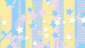 3パターンのポップな星のスパークとデジタルポップなパターン ループ(2秒に1回スパーク) 62761032