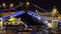 Drawn Palace bridge and Winter Palace at night 62863648