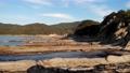 고치 현 다쓰 쿠시 해안의 기암 시내 드론 공중 촬영 63163916