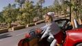 Woman enjoying road trip on nature 63175002
