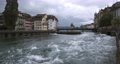 Old dam Nadelwehr in the center of the old town of Lucerne on the Reuss river, Switzerland 63227438