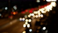 Evening traffic, bokeh effect and motion blur viewed from the road bridge. 63342947
