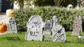 Happy Halloween holiday concept. Seasonal decorations in front of a house before party. Scary 63367246