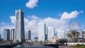 2020年 横浜 みなとみらい タイムラプス 青空に流れる雲 パン 63512845