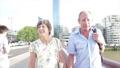 Active senior tourist couple walking in london 63711686