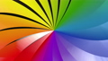 Colorful objects. A rotating feather. Beautiful gradation. 3D animation 63748254
