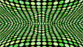 Green pattern pattern. The round pattern undulates violently. 3D animation 63750428