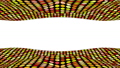 Colorful circle pattern. A wavy pattern up and down. 3D animation 63750429