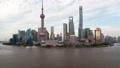 Shanghai river urban cityscape aerial skyline  timelapse at day  64211137