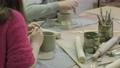 Children's master class in clay modeling. Ceramic workshop 64611336