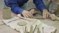 Children's master class in clay modeling. Ceramic workshop 64611357